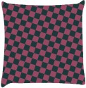 Snoogg Chequered Pattern Design 1090 Throw Pillows 16 X 16 Inch Cushions Cover - Pack Of 1