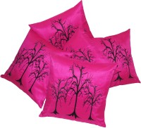Zikrak Exim Embroidered Cushions Cover (Pack Of 5, 40 Cm*40 Cm, Pink)