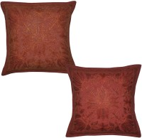 Lal Haveli Embroidered Cushions Cover (Pack Of 2, 41 Cm*41 Cm, Red)