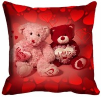 MeSleep Teddy Bear Digitally Printed Printed Cushions Cover (1 Digital Cushion Cover Without Filler, 40.64 Cm*40.64 Cm)