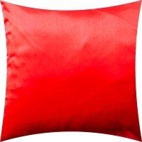 Vaachie Home 1h071014 Red Sateen Solid Design Self Design Cushions Cover (41*41, Red)