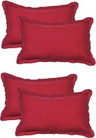 Furnishia Plain Pillows Cover Pack Of 4, 45.72 Cm*68.58 Cm, Red