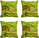 Mesleep Life Is Beautiful Digitally Printed Cushions Cover - Pack Of 4