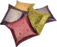 UFC Mart Brocade Multi -Colour Cushions Cover (Pack Of 5)