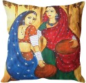 StyBuzz Traditional Indian Woman Art Cushions Cover - Pack Of 1