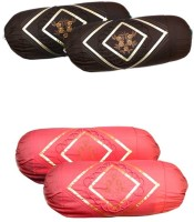 Christy's Collection Embroidered Bolsters Cover (Pack Of 4, 15 Cm*6 Cm, Multicolor) - CPCE483T3SGYWYFR