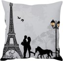 StyBuzz Love In Paris (12x12) Cushions Cover - Pack Of 1