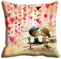 MeSleep Couple Digitally Printed Printed Cushions Cover (40.64 Cm*40.64 Cm)