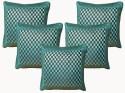 Dekor World Checks Cushions Cover - Pack Of 5 - CPCEY8FSNU77WYPD