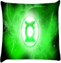 Snoogg Green Lantern Spirit Logo Throw Pillows 16 X 16 Inch Cushions Cover - Pack Of 1