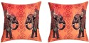 "SEJ By Nisha Gupta HD Digital Print Silk 16"" By 16"" Cushion Cover. Cushions Cover - Pack Of 2 - CPCDYVZ5UZUJGZ8K"
