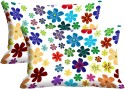 Mesleep Flower Digitally Printed Pillows Cover - Pack Of 2