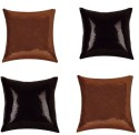 "SEJ By Nisha Gupta Rich Single Color Sequin 16"" By 16"" Cushion Cover. Cushions Cover - Pack Of 4 - CPCDYVZ5U3GDVQUT"
