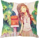 StyBuzz Cute Girl Art (12x12) Cushions Cover - Pack Of 1
