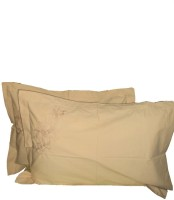 Amita Home Furnishing Embroidered Pillows Cover Pack Of 2, 43 Cm*69 Cm, Brown