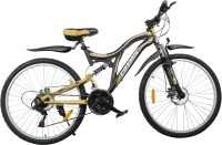 COSMIC VOYAGER 21 SPEED MTB BICYCLE BLACK/GOLD-PREMIUM EDITION VOYAGER26BKGLD Hybrid Cycle (Black, Gold)