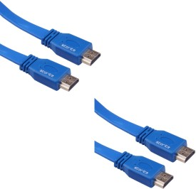 Storite 2 Pack Super Flat Hdmi Male To Male Tv Lead 1.4v High Speed Ethernet 3d Full Hd 1080p (150cm - 4.5foot - 1.5m) USB Cable