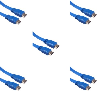 Storite 5 Pack Super Flat Hdmi Male To Male Tv Lead 1.4v High Speed Ethernet 3d Full Hd 1080p