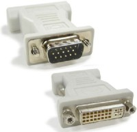 Wiretech DVI Female To VGA Male Converter DVI Cable (White)