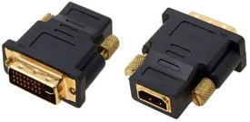 Jinali DVI Male To HDMI Female Converter Data_cable - Black