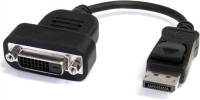 De TechInn Display Port Male DP To DVI Female 24+1 DVI-D Pin Adapter DVI Cable (Black, White)