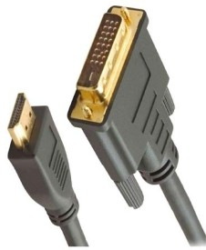 Jinali DVI Male To HDMI Male Cable Data Cable - Black