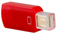 Microware Mini Display Port To HDMI Female Adapter HDMI Cable (Red)