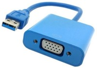 Microware USB 3.0 To VGA HDMI Cable (Blue)