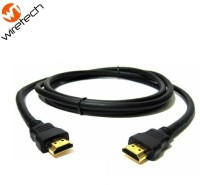 Wiretech High Speed 24k Gold Connectors 1.8 Meter HDMI Cable (Black)
