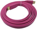 Speed HDMI Male To HDMI Male 1.4 V Flat Color Data_cable - Pink