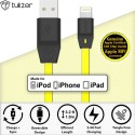 Tukzer [Apple MFI Certified Licensed] 8 Pin Lightning To USB 2.4A Lightning Cable (Yellow)