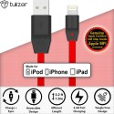 Tukzer [Apple MFI Certified Licensed] 8 Pin Lightning To USB 2.4A Lightning Cable (Red)