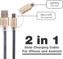 SYSTENE Data Cable For Iphone And Android - Black Lightning Cable (Black)