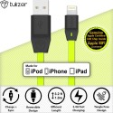 Tukzer [Apple MFI Certified Licensed] 8 Pin Lightning To USB 2.4A Lightning Cable (Green)