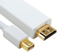 Iconnect World Mini Display Port To HDMI Adaptor Cable Patch Cable (White)