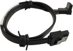 Storite SATA 3 cable with Locking Latch straight to Right Angle 90 Degree Black