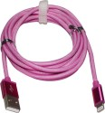HAVEIN USB CABLE FOR APPLE IPHONE 5,5S,6,6 PLUS SYNC USB DATA CABLE Sync & Charge Cable (Pink)