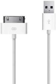 Ubon 30 Pin To USB Charger & Sync For IPod, IPad, IPhone Data Cable - White