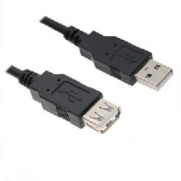 Wiretech USB 2.0 Male To Female Usb Cable (Black)
