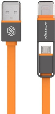 Nilkin Plus Cable 2 in 1 Micro USB and Lightning Data Sync and Charging Cable 5V 2.1A USB Cable