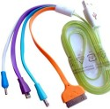 Elemetrik Usb 2.0 Colouring Multi Charger For Samsung/Nokia/Iphone - 1 Mtr USB Cable USB Cable (White, Purple, Bule, Orange)