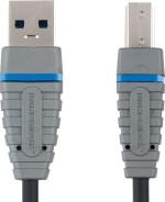 Bandridge BCL5102 Blue USB 3.0 A B Device Cable USB 3.0 A M USB B M Power 2.0 m