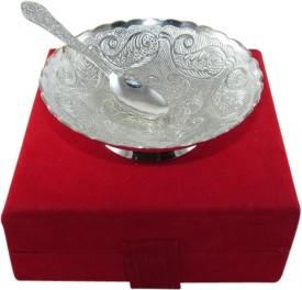 GoldGiftIdeas Silver Plated Bowl Brass Decorative Platter
