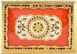 Shreeng Handicraft 10x7 Golden Meena Dry Fruit/ Multipurpose Box