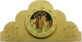 SportsHouse Handicraft Paper Napkin Holder Wooden Decorative Platter