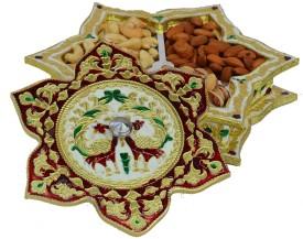 eCraftIndia Aluminium Decorative Platter