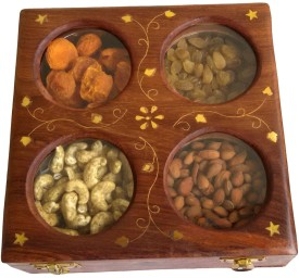 Onlineshoppee Wooden Decorative Platter
