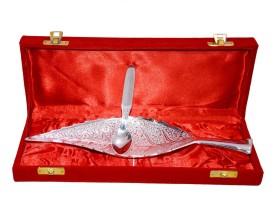 Marusthali Leaf Box Packing Brass Decorative Platter