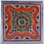 Shreeng Handicraft 10x10 Silver Meena Dry Fruit/ Multipurpose Box