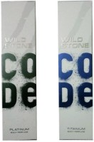 WILD STONE Titanium & Platinum Combo Body Spray  -  For Boys, Men (240 Ml)